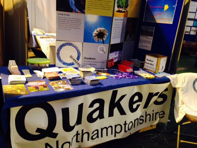 Quaker stand at Greenbelt 2015
