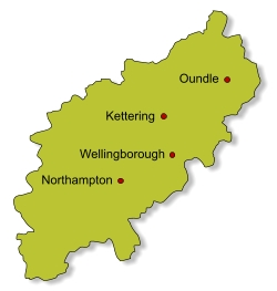 Quaker locations in Northamptonshire